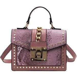 Image 4 - Sacs à main en cuir PU Design pour femmes, sacs à bandoulière de bonne qualité avec fermeture éclair, petites chaînes à rabat, 2020