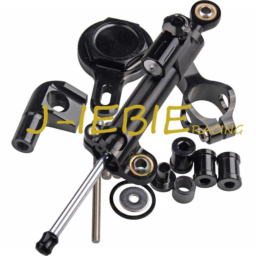 ЧПУ рулевой демпфер стабилизатора и черный кронштейн крепления для Yamaha YZF R1 1999-2005 2000 2001 2002 2003 2004