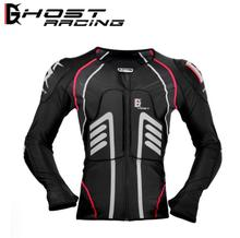 GHOST RACING Motorcycle Jacket Protective Gear Summer Motocross Protection Moto Racing Body Armor Men Black