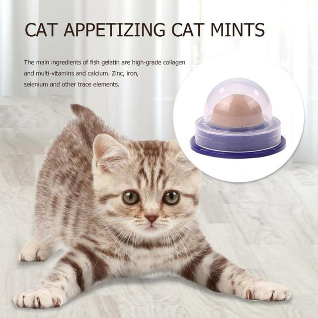 Healthy Cat Snacks Catnip Sugar Candy Licking Solid Nutrition Gel Energy Ball Toy for Cat Increase Drinking Water Help Digestion 5