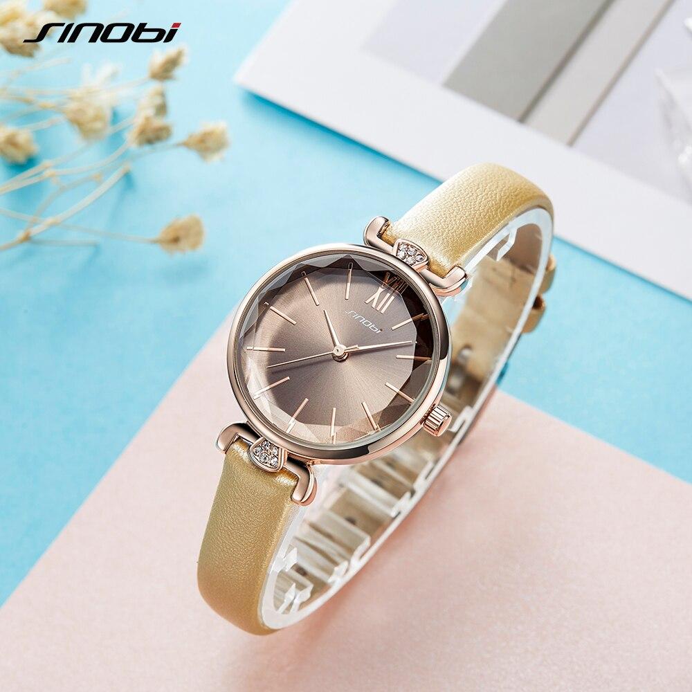 SINOBI Fashion Luxury Brand Women's Watch Ultra-thin Watch Ms. Montre Femme 2019 Women's Clock Relogio Mujer