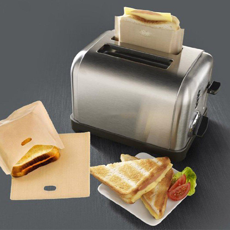 Sale 1PC Toaster Bags Toast Sandwiches Teflon toast bag for Grilled Made Easy Cheese Home Supplies Bread Bags Non-stick Reusable Тостер