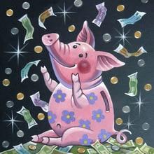 Diamond Painting cartoon Pig 5D Round Rhinestones