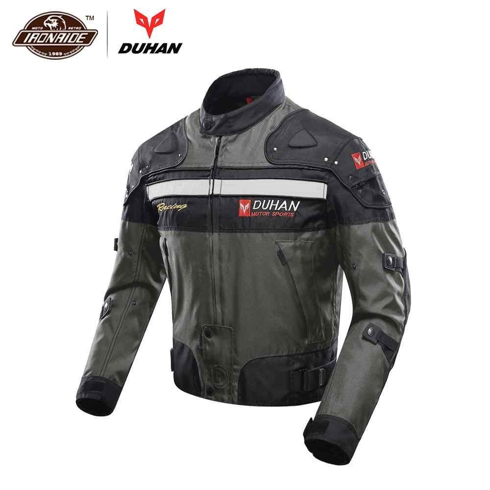 Compre DUHAN Equipo De Motocross Ropa Interior De Algodón Chaqueta Moto A Prueba De Frío De Los Hombres 600D Oxford Cloth Street Chaqueta De
