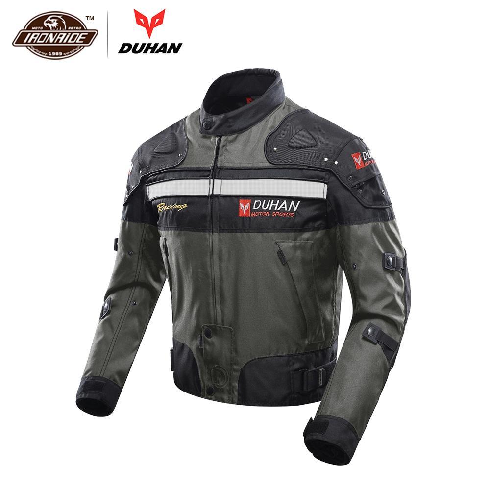 DUHAN मोटरसाइकिल जैकेट शरद ऋतु सर्दियों पुरुषों की मोटरबाइक मोटो जैकेट पवन सबूत ठंड प्रूफ सुरक्षात्मक गियर मोटोक्रॉस जैकेट कपड़े