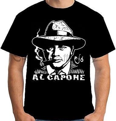 Velocitee Mens Al Capone T Shirt Gangster Mob Mafia Mobster Crime W11661 22aef714f7b06