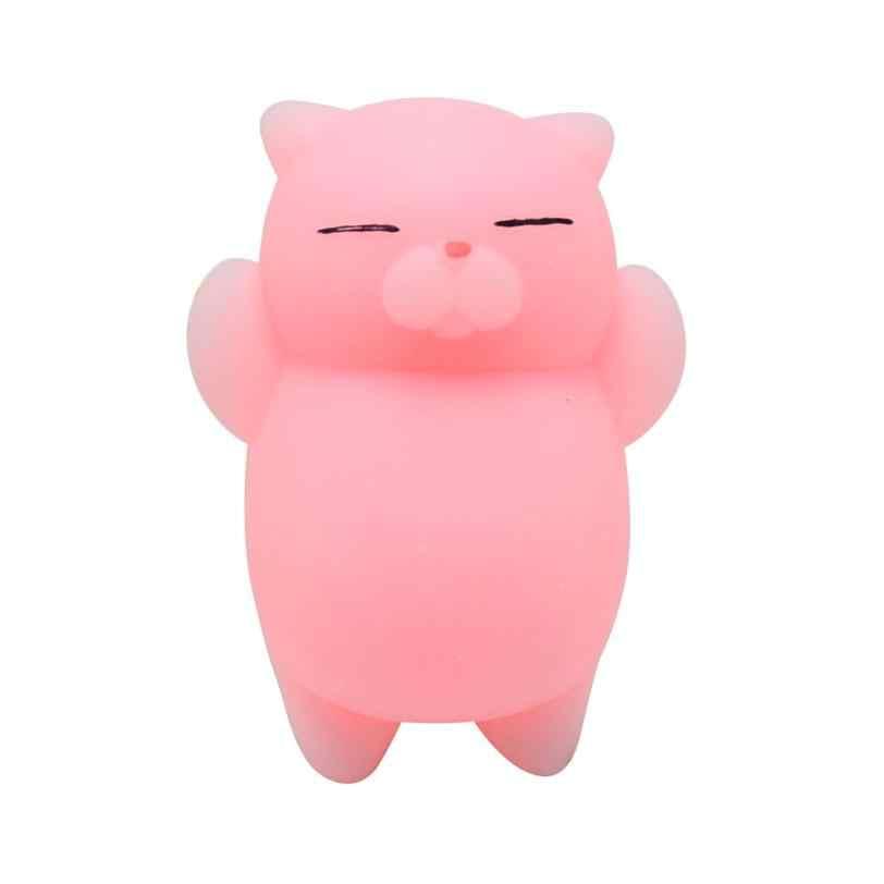 لطيف Mochi اسفنجي القط سكوشي شفاء بطيئة ارتفاع لعبة متعة الاطفال Kawaii الاطفال الكبار لعبة زخرفة تفريغ الإجهاد