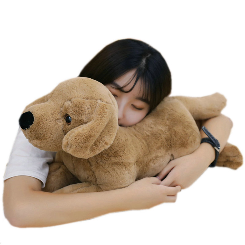 40cm 80cm Simulation Labrador Plush Toy Stuffed Lifelike Dog Animals Toy Soft Dog Pillow Hug Message Pillow Office Gift For Her