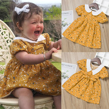 Baby Girls Floral Print Dress Clothes
