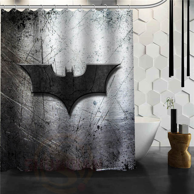 Custom 4 Style Classic Batman Logo Bathroom Waterproof Shower Curtain Durable Decorative