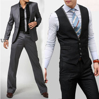 2017 new arrival men terno masculino luxury Business Dress, casual tuxedos for men three-piece suits jacket+pants+vest