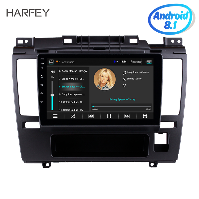 Harfey Android 8.1 9 HD Touchscreen Car Radio GPS Navigation For 2005 2006 2007 2010 Nissan Tiida with Bluetooth AUX Wifi