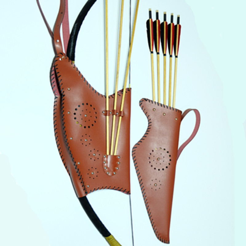 Bow And Arrow Bag : Handmade traditional bags for bow and arrow brown wine