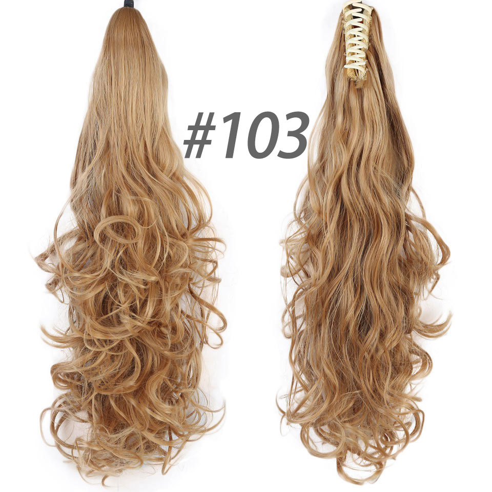 ALI shop ...  ... 32887242836 ... 5 ... DIFEI Synthetic Women Claw on Ponytail Clip in Hair Extensions Curly Style Pony Tail Hairpiece Black Brown Blonde Hairstyles ...