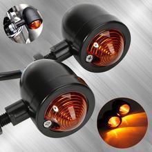 Yetaha 2Pcs אופנוע הפעל אותות אור קפה רייסר מיני שחור כדור נצנץ אמבר מחוון מנורת עבור ימאהה הונדה סוזוקי
