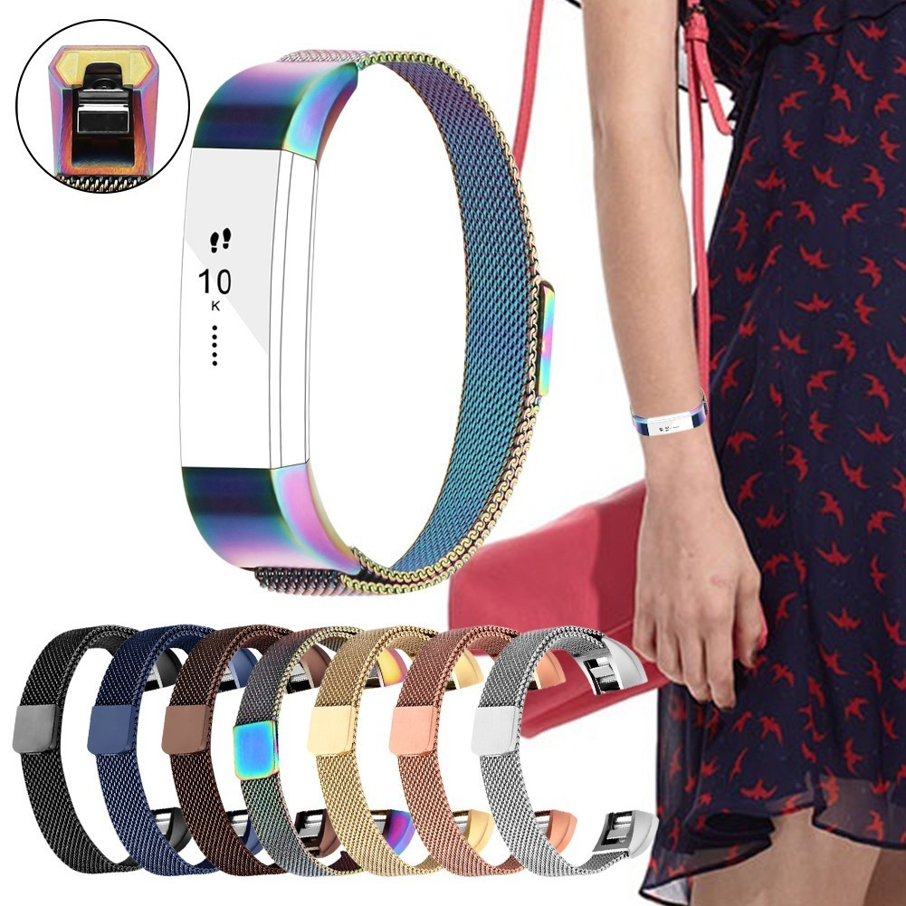 Adjustable Smart Band Replacement Strap For Fitbit Alta Smartband Replace Strap with Magnetic Interlock Clasp for Fitbit Alta