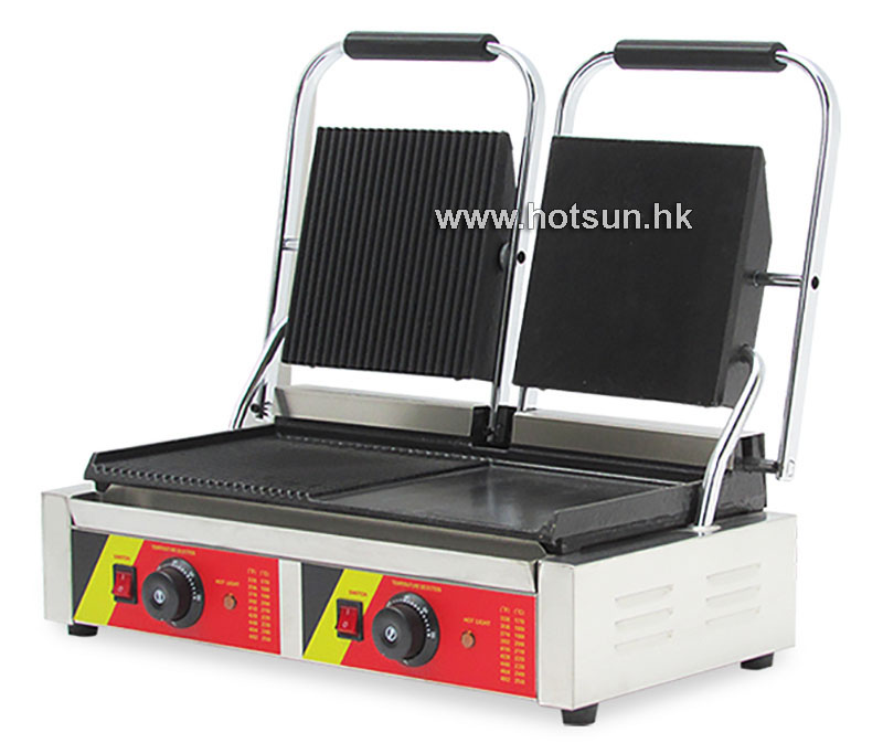 Free Shipping Commercial Non-stick 220V Electric Double Sandwich Plate Panini Grill Press Machine free shipping commercial non stick 220v electric sandwich plate panini grill press machine