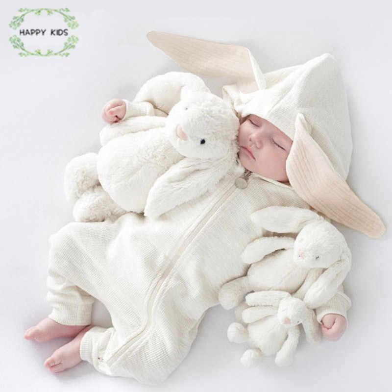 Baby Rompers Babies Boy Girls Clothes Newborn Clothing Jumpsuit Cute Rabbit Ear Hooded Winter Infant Costume Baby Outfits DLY529