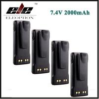 4x Eleoption 7 4V HNN9013 HNN9013A HNN9013B HNN9013DR HNN9013D R Battery For Motorola Radio GP328 GP338