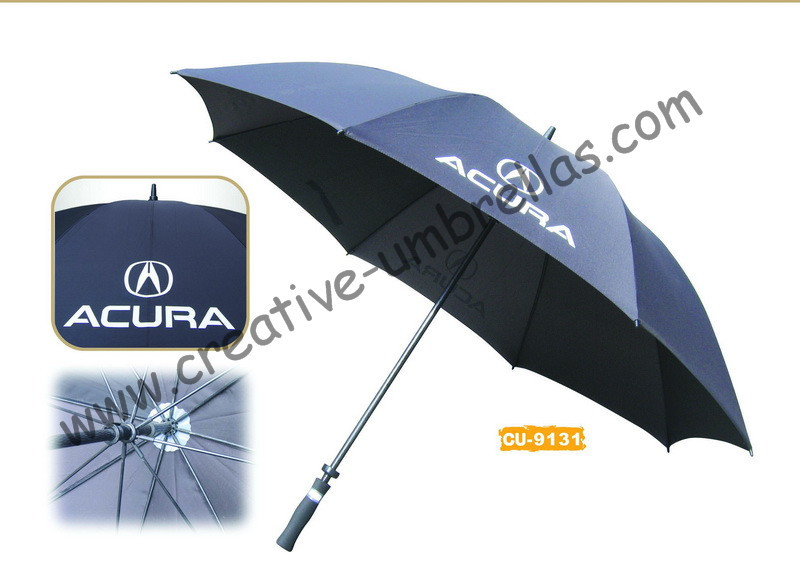 Free shipping by sea,14mm fiberglass shaft and ribs,hand open golf umbrella,windproof,anti-thunderbolt,car promotion umbrella