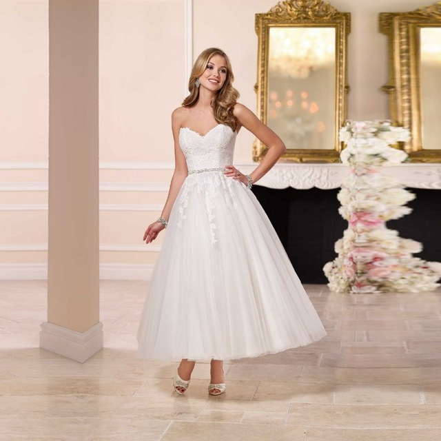 Vintage 1950s Style Wedding Dress 2017 Sexy Appliques With Beads ...