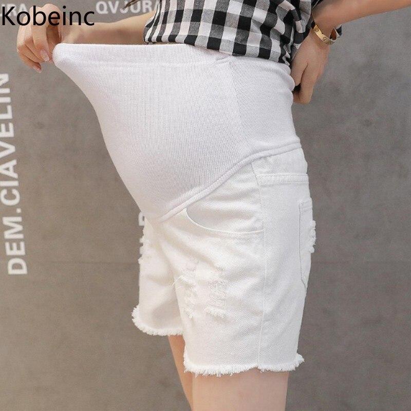 7bb2f562f7bb5 Kobeinc D été Nouveaux Attente Cassé Shorts Pantalon Pour Les Femmes  Enceintes De Mode Lâche Grossesse Shorts Jeans De Maternité Vêtements Pour  Femmes
