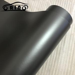 Матовая виниловая обертка металлик из антрацита, матовая пленка для упаковки в автомобиль, покрывающая фольгой, без пузырьков воздуха, 10/20/30...