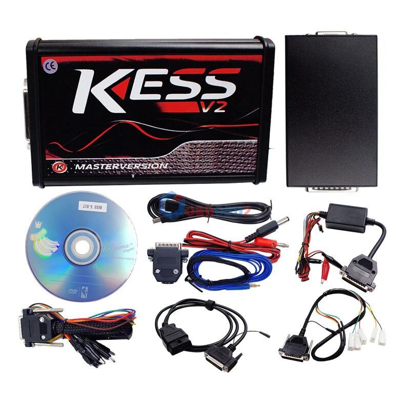 HTB12aKYfgoQMeJjy0Foq6AShVXai V2.47 Online EU Red KESS V2 5.017 Full Master OBD2 Manager Tuning KESS V5.017 4 LED KTAG V7.020 BDM Frame K-TAG 7.020 ECU Chip