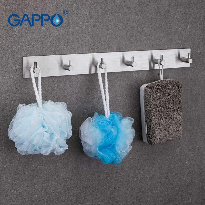GAPPO халат крючки одежда крюк из нержавеющей стали Крючки Настенные Ванная комната Полотенца вешалка башня крючки