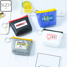 XZP Fashion Dupont Tyvek Paper Material Women Men Coin Purse Letter Printed Card Holder Key Money Mini Pouch Wallet Bags