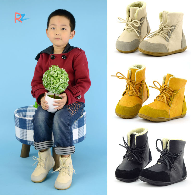 New winter boots for girls fashion toddler Boy Martin boots child Leather  cotton snow boots Children shoes buty dla dziewczynki-in Boots from Mother    Kids ... 0a51f53a044b
