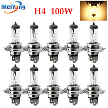 10pcs H4 12V 100W /90W 4300K Yellow P43t Fog Halogen Bulb day light running Head Lamp car styling car light source parking kobo diy h4 12v 100w 5500lm yellow light halogen lamp for car w 2 t10 blue bulbs 2 pcs