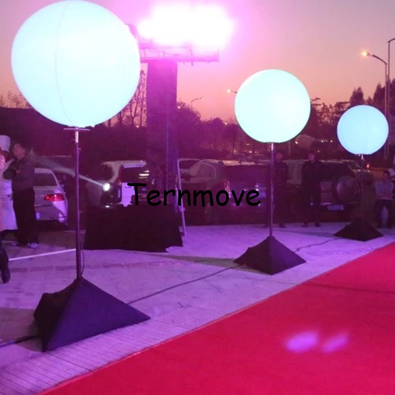 Illuminazione gonfiabile treppiede palloncino display colonna di illuminazione a led gonfiabile di aria in piedi aerostato di pubblicità treppiede pole