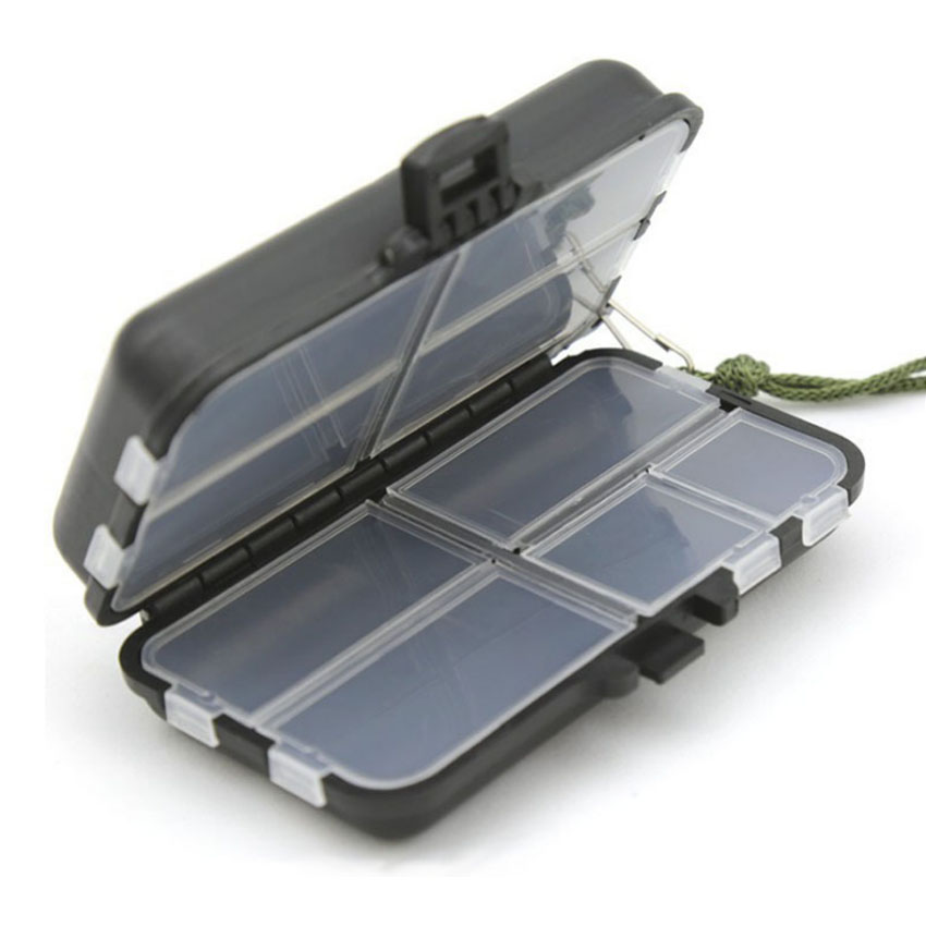 Double Layers Box Spinner Box Bait Minnow Popper Box Fishing Tool LB-H02 Fishing Tackle Boxes