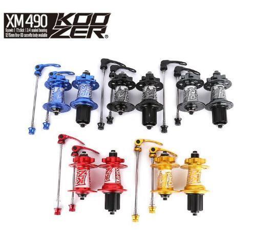 KOOZER HA02N/HA04N XM490 CNC Alüminyum Hub seti 2/4 Rulmanlar MTB 32 Delik QC Bisiklet Hub Bisiklet Hub ücretsiz Kargo