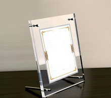 ФОТО GT3166-A4 Plastic Acrylic Family Photo frame 33mm thickness Plexiglass Display Holder With Metal Screw Clear Stand