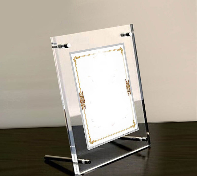 GT3166 A4) Plastic Acrylic Family Photo frame 3+3mm thickness ...