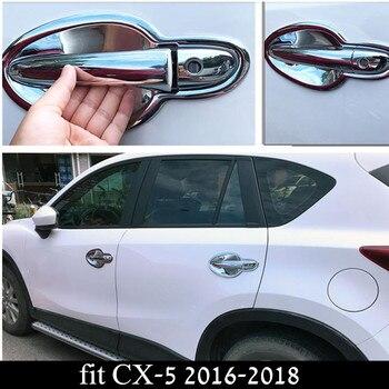 ABS الكروم CX-5 باب السيارة مقبض الباب غطاء وعاء لمازدا CX-5 CX 5 CX5 2016-2018