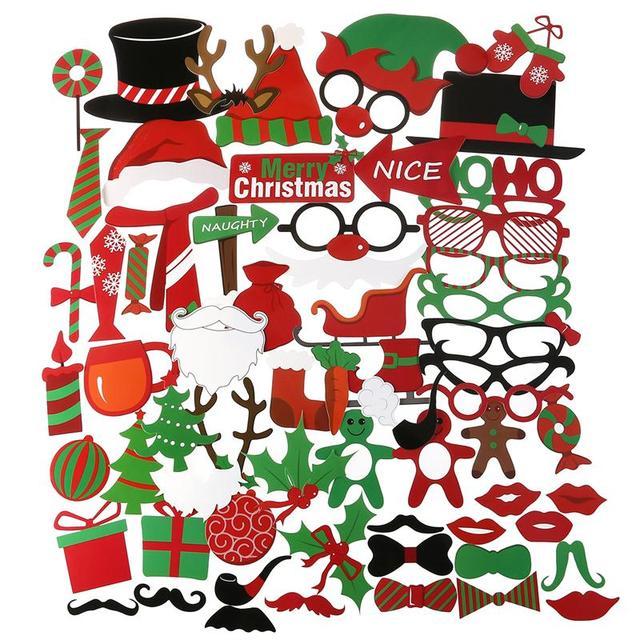 Lustige Bilder Frohe Weihnachten.Us 11 0 41 Off 62 Stücke Frohe Weihnachten Photo Booth Props Weihnachtsfeier Zubehör Für Atmosphärische Und Lustige Bilder Zu Weihnachten Zeit