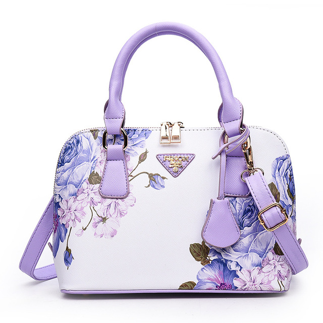 2017 fashion flowers ladies shell bags floral printing women messenger bags female handbag bolsa feminina sac a main small bags