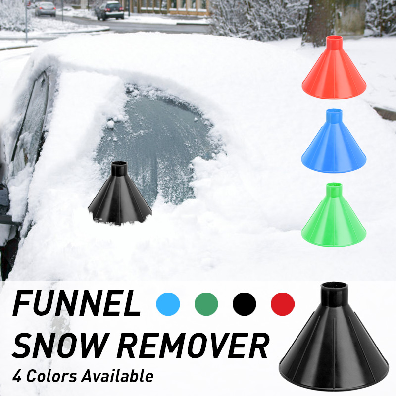 Car Windshield Snow Scraping Remover Ice Scraper Tool Cone Shaped Funnel NEW