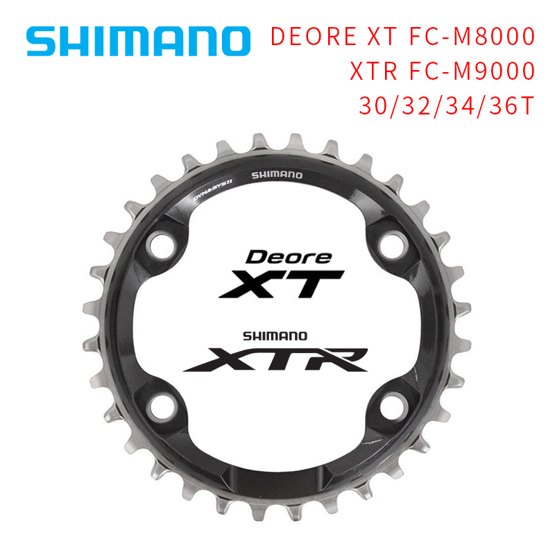 цена на Shimano Deore XT Chainring FC-M8000 M9000 Bike Bicycle Cycling Single Chainring 30T/32T/34T/36T 1x11 speed