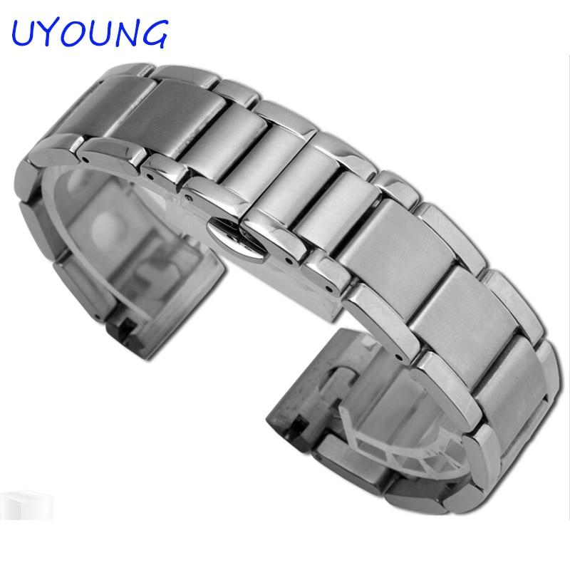 New Unisex 20 mm Argjend Stainless Steel Watch Band, Rrip rripi i - Aksesorë për orë - Foto 3