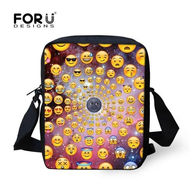 FORUDESIGNS Funny Emoji Cute Pig Messenger Bags Women Men Casual Travel Mini  Cross Bags Kids Daily Shoulder Bag Best Gift Bags 12c2462ae090c
