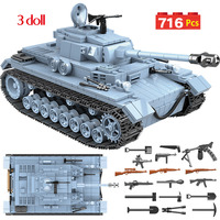 Toys For Boys Technik Military German Tank Building Blocks Compatible WW2 Army City Soldier Police Weapon Bricks Sets
