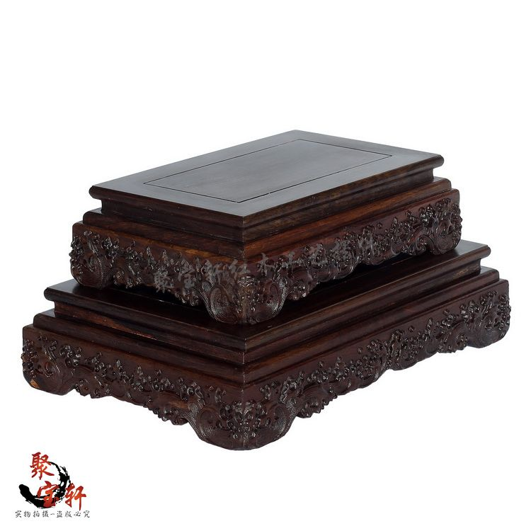 Special Seal Hollow Out Root Carving Jade Buddha Mammon Base Rosewood Carving Wooden Handicraft Accessories Furnishing Articles Less Expensive Living Room Furniture