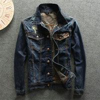 2018 New Arrival Mens Denim Jeans Wear Jacket Spring Summer Vintage Stylish Ripped Washed Jacket