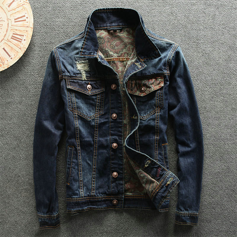 2018 New Arrival mens Denim Jeans wear Jacket Spring Summer Vintage Stylish Ripped washed jacket new 2016 fashion brand women washed denim casual hole romper jumpsuit overalls jeans macacao feminino vintage ripped jeans