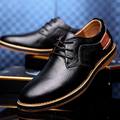 Hot 2016 Spring Autumn Fashion Men's Flat Lace-up Breathable Business Shoes Patchwork Leather Oxford Shoes
