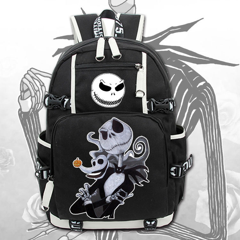 2017 New The Nightmare Before Christmas Laptop Backpack Cosplay Cartoon School bags 17  College Students Bag Bookbag Travelbag high q cartoon rick and morty 2017 new arrival backpack students couple printing candy color leisure bags